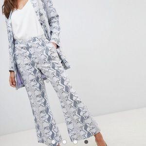 NEW Snake Print Flare Pants